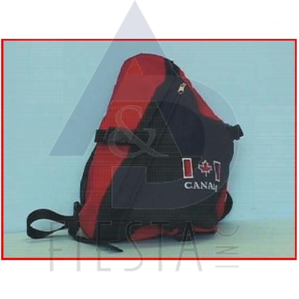 CANADA OVER THE SHOULDER BACK PACK BLACK/RED SERIES