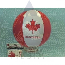 "MONTREAL 16"" INFLATABLE BEACH BALL"