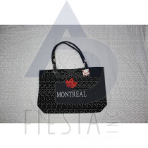 MONTREAL MICRO FIBRE LOOK TRAVEL BAG WITH LEAF