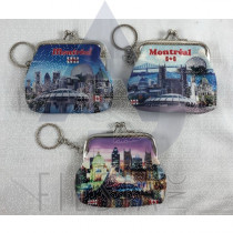 MONTREAL SMALL COIN PURSE WITH LANDMARKS PICTURES ASSORTED