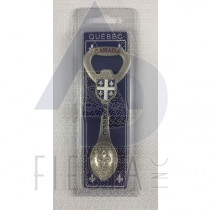 QUEBEC SPOON WITH FLAG AND BOTTLE OPENER IN CLAMSHELL BOX