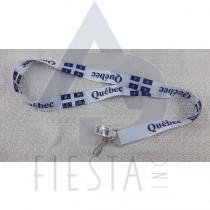 QUEBEC WHITE LANYARD