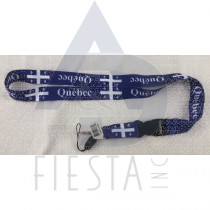 QUEBEC BLUE LANYARD WITH DETACHABLE CLIP