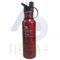 NIAGARA FALLS STAINLESS STEEL WATER BOTTLE WIDE MOUTH WITH SPOUT 18 OZ. RED