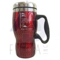 NIAGARA FALLS STAINLESS STEEL TALL COFFEE MUG 16 OZ. RED
