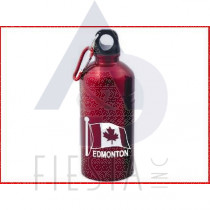 EDMONTON RED STAINLESS STEEL WATER BOTTLE WIDE MOUTH WITH SPOUT 18 OZ.