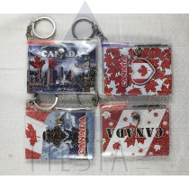 CANADA SMALL NOTE BOOK WITH PEN AND SNAP ASSORTED