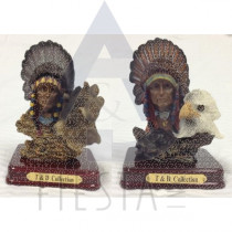 CANADA POLY FIGURINE INDIAN ASSORTED