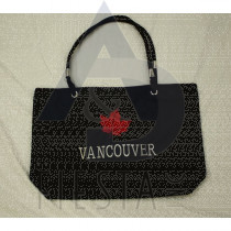 VANCOUVER MICRO FIBRE LOOK TRAVEL BAG WITH LEAF