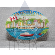 VANCOUVER POLY OVAL PLAQUE