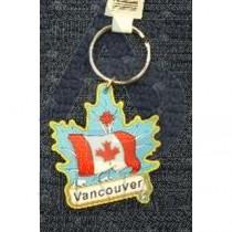 VANCOUVER PVC MAPLE LEAF SHAPE WITH FLAG