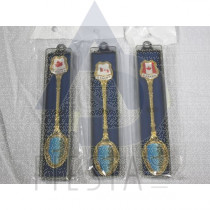 CANADA GOLD SOUVENIR SPOON IN GIFT BOX ASSORTED