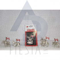 CANADA ANIMAL PAPER WEIGHT WITH FLAG ASSORTED