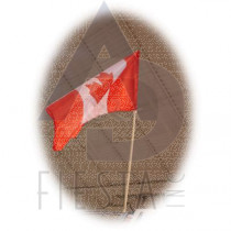 CANADA FLAG 75X100 CM WITH 1.5 METER WOODEN POLE