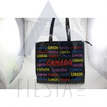 CANADA LARGE PVC TOTE BAG WITH COLORFULL WORDING