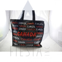 CANADA LARGE PVC TOTE BAG WITH RED/WHITE WORDING