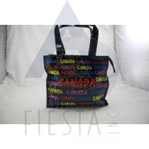 CANADA MEDIUM PVC TOTE BAG WITH COLORFULL WORDING