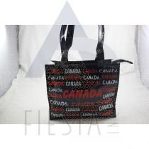 CANADA MEDIUM PVC TOTE BAG WITH RED/WHITE WORDING