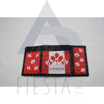 CANADA 3 FOLD NYLON WALLET WITH MAPLE LEAFS