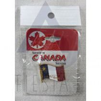 L'ACADIE WAVY FLAG PIN