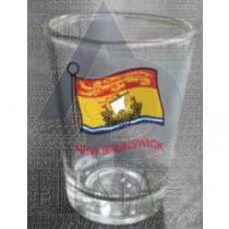 NEW BRUNSWICK SHOT GLASS WITH WAVY FLAG