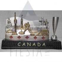 CANADA 2-TONE NAME CARD HOLDER IN BLUE GIFT BOX