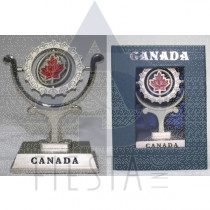 CANADA SPINNING PAPER WEIGHT IN BLUE GIFT BOX