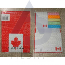 CANADA NOTE PAD WITH ASSORTED COLORS BOOK MARKS