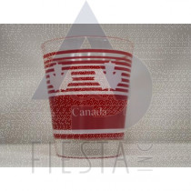 CANADA SHOT GLASS RED STRIPES