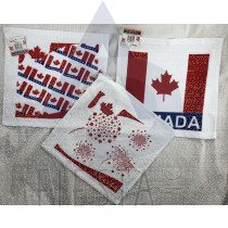 CANADA COTTON FACE TOWEL 30X30 CM ASSORTED