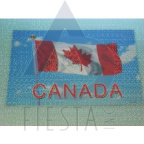 CANADA PLACEMAT WITH FLAG WITH POLE