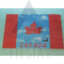 CANADA PLACEMAT WITH WAVY FLAG