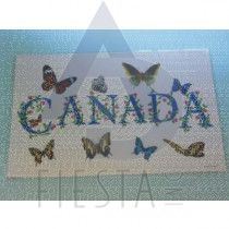 CANADA PLACEMAT WITH BUTTERFLY'S
