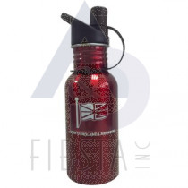 NEWFOUNDLAND LABRADOR STAINLESS STEEL WATER BOTTLE WIDE MOUTH WITH SPOUT 24 OZ. RED