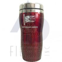 NEWFOUNDLAND LABRADOR STAINLESS STEEL TALL COFFEE MUG 16 OZ. RED