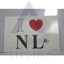 """NEWFOUNDLAND LABRADOR POSTCARD """" I LOVE NL"""""""