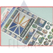 NEWFOUNDLAND LABRADOR ASSORTED LASER STICKERS