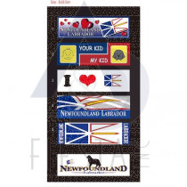 NEWFOUNDLAND LABRADOR LARGE BUMPER STICKER 4 ASSORTED