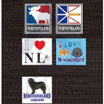 NEWFOUNDLAND LABRADOR SMALL BUMPER STICKER 6 ASSORTED