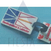 NEWFOUNDLAND LABRADOR RUBBERIZED LUGGAGE TAG