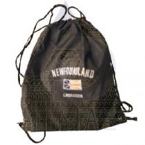 NEWFOUNDLAND LABRADOR BLACK BACK PACK WITH DRAW STRING