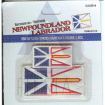 NEWFOUNDLAND LABRADOR SEW ON PATCH 2 PC