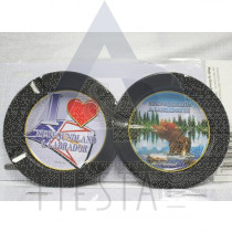 NEWFOUNDLAND LABRADOR METAL ASHTRAY ASSORTED