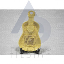 CANADA GUITAR POLY DISH WITH STAND WITH GOLD LOON