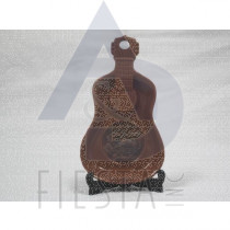 CANADA GUITAR POLY DISH WITH STAND - BROWN