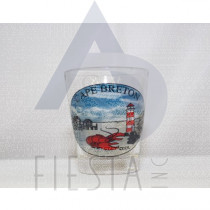 CAPE BRETON SHOT GLASS WITH LIGHT HOUSE AND LOBSTER