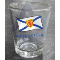 NOVA SCOTIA SHOT GLASS WITH WAVY FLAG
