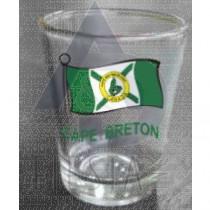 CAPE BRETON SHOT GLASS WITH WAVY FLAG