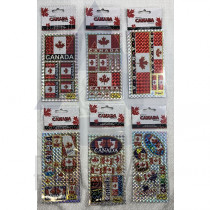 CANADA SMALL LASER STICKERS ASSORTED