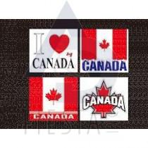CANADA SMALL BUMPER STICKERS ASSORTED
